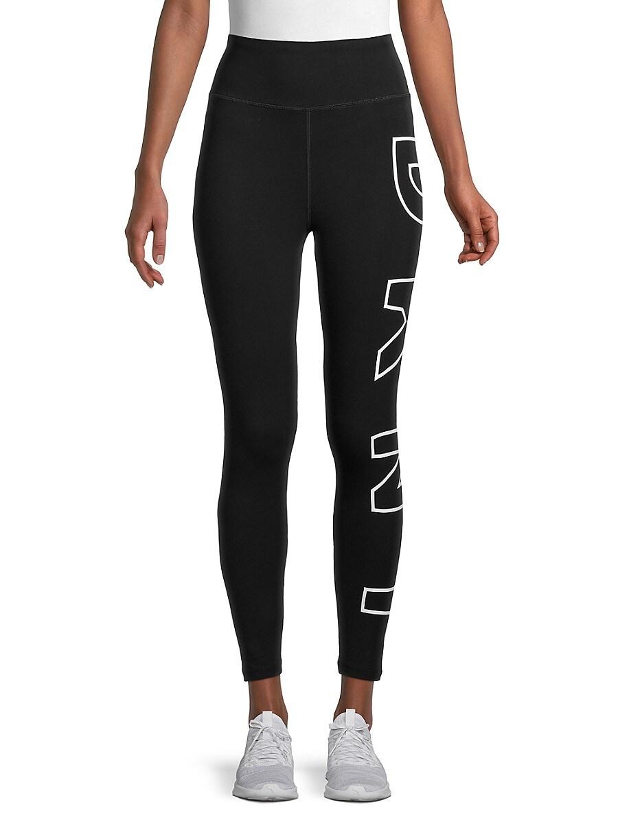 DKNY Sport Women's High-Waist Logo Leggings - White - Size XS