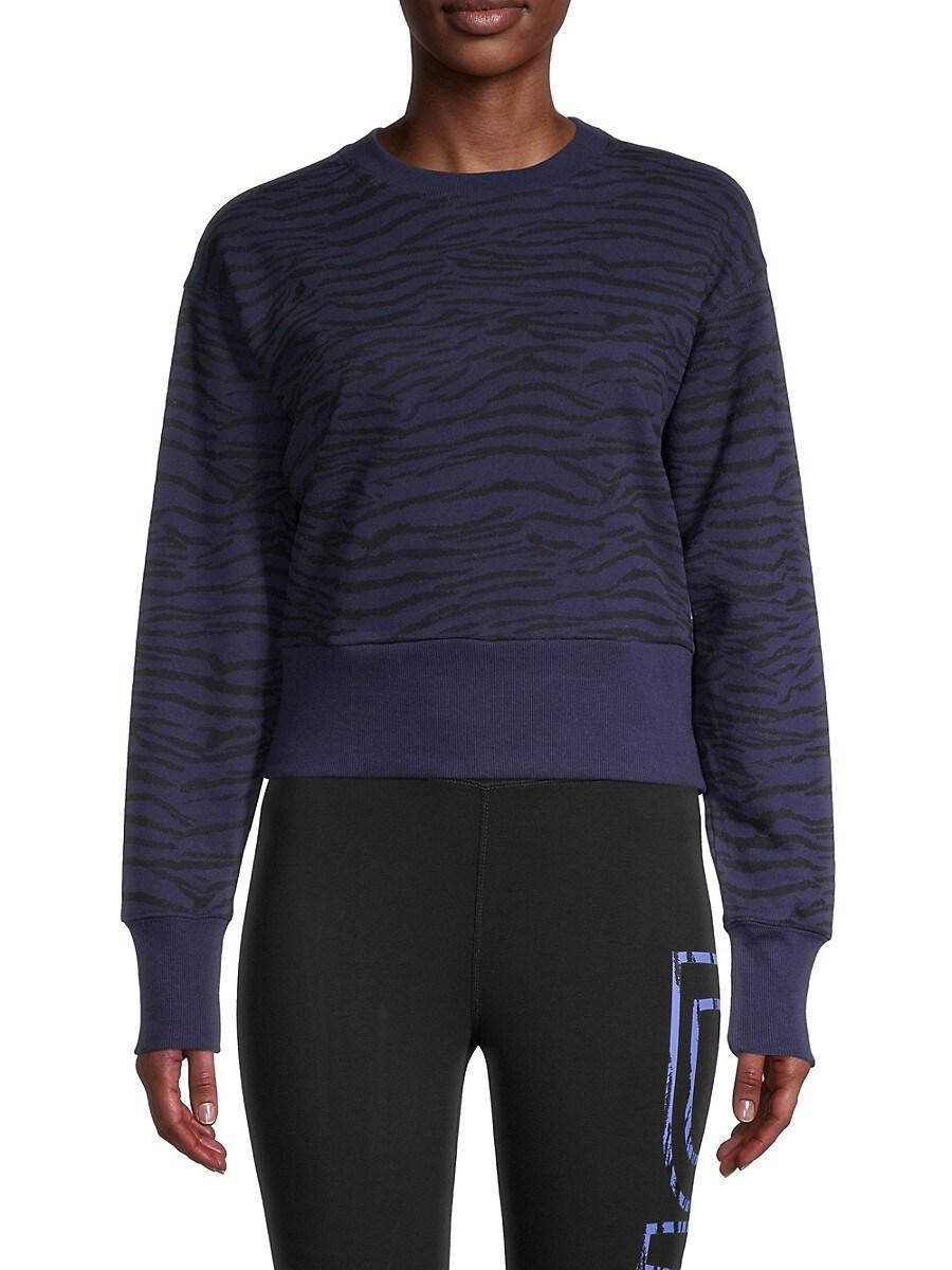 Women's Tiger-Print Sweatshirt