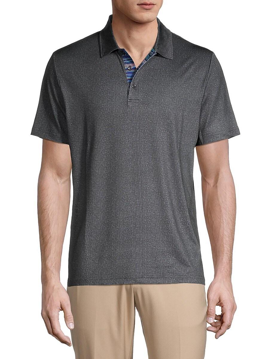 Men's Micro-Textured Polo