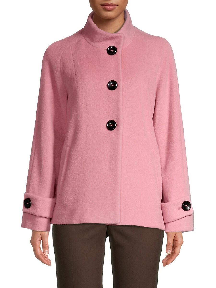 Women's Virgin Wool & Alpaca-Blend Short Coat