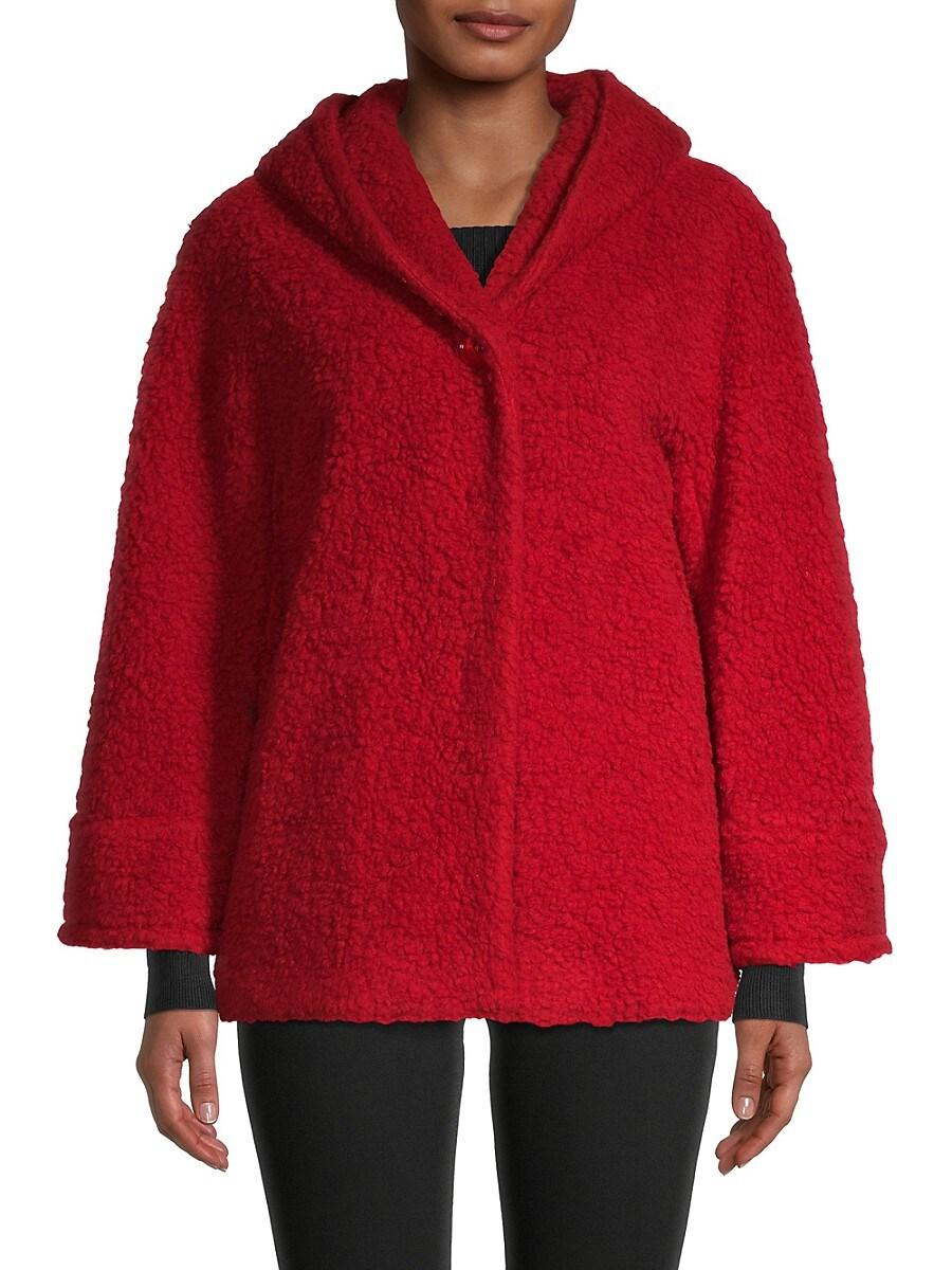 Women's Virgin Wool-Blend Hooded Jacket