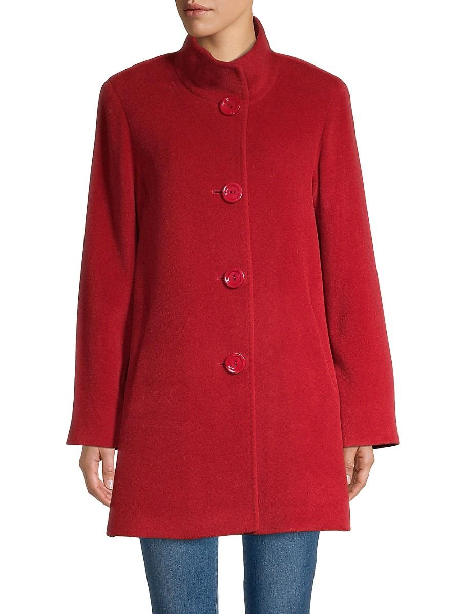 Women's Alpaca & Virgin Wool Car Coat
