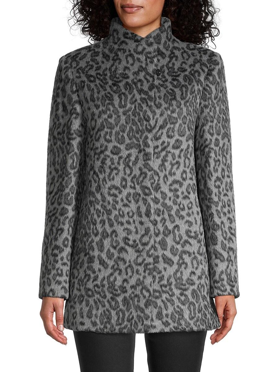 Women's Leopard-Print Short Coat