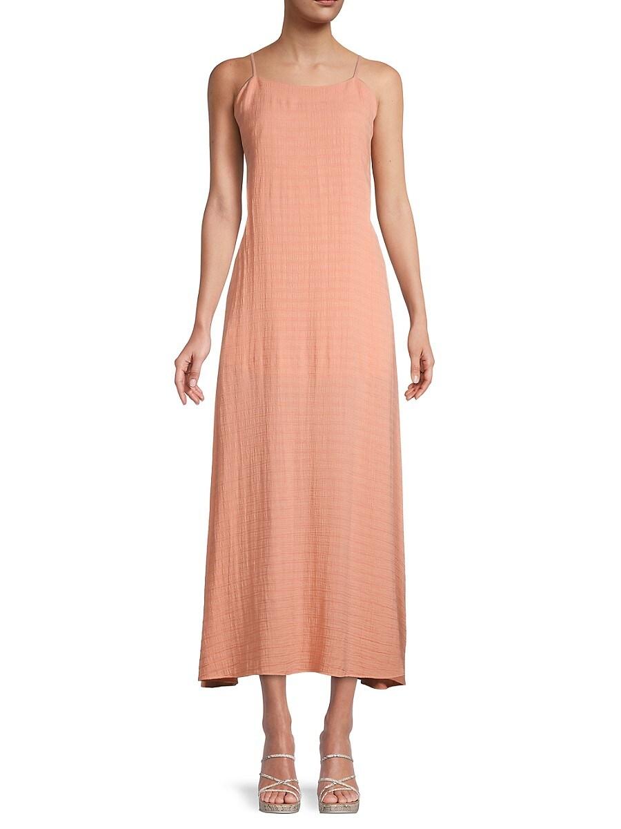 Women's Seersucker Tie-Back Slip Dress