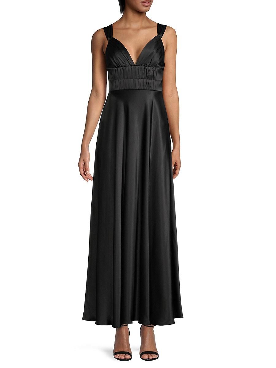 Women's Silk Pintuck-Pleated Gown