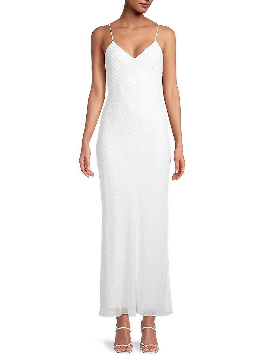 Women's Devoré Velvet Column Slip Gown