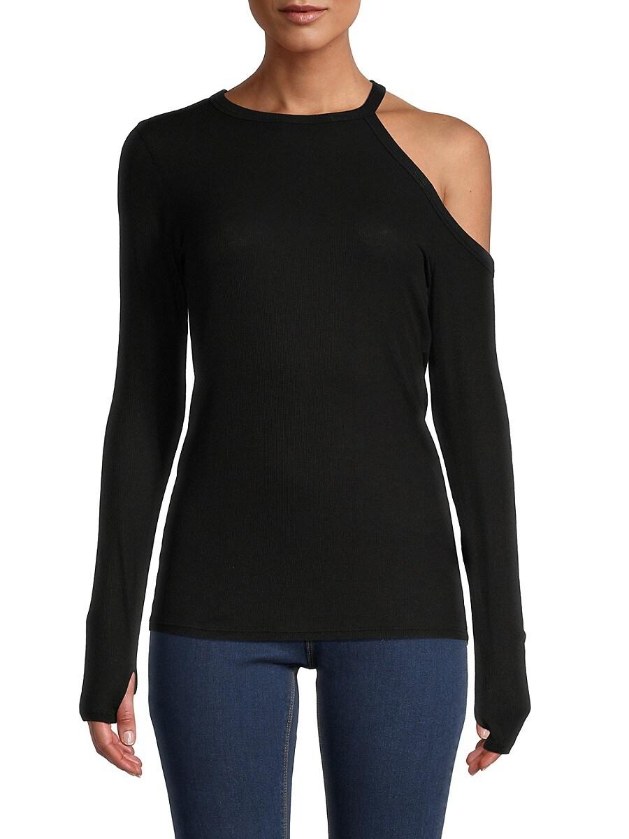 Women's Cutout Long Sleeve T-Shirt