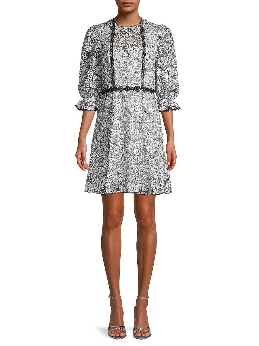 Women's Floral Puff-Sleeve Dress