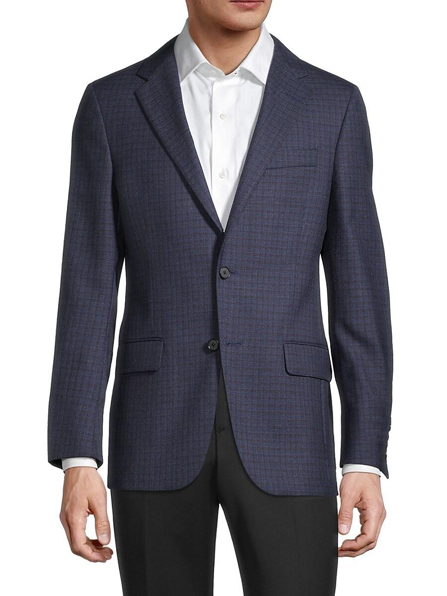 Men's Milburn II Regular-Fit Check Wool Sports Jacket