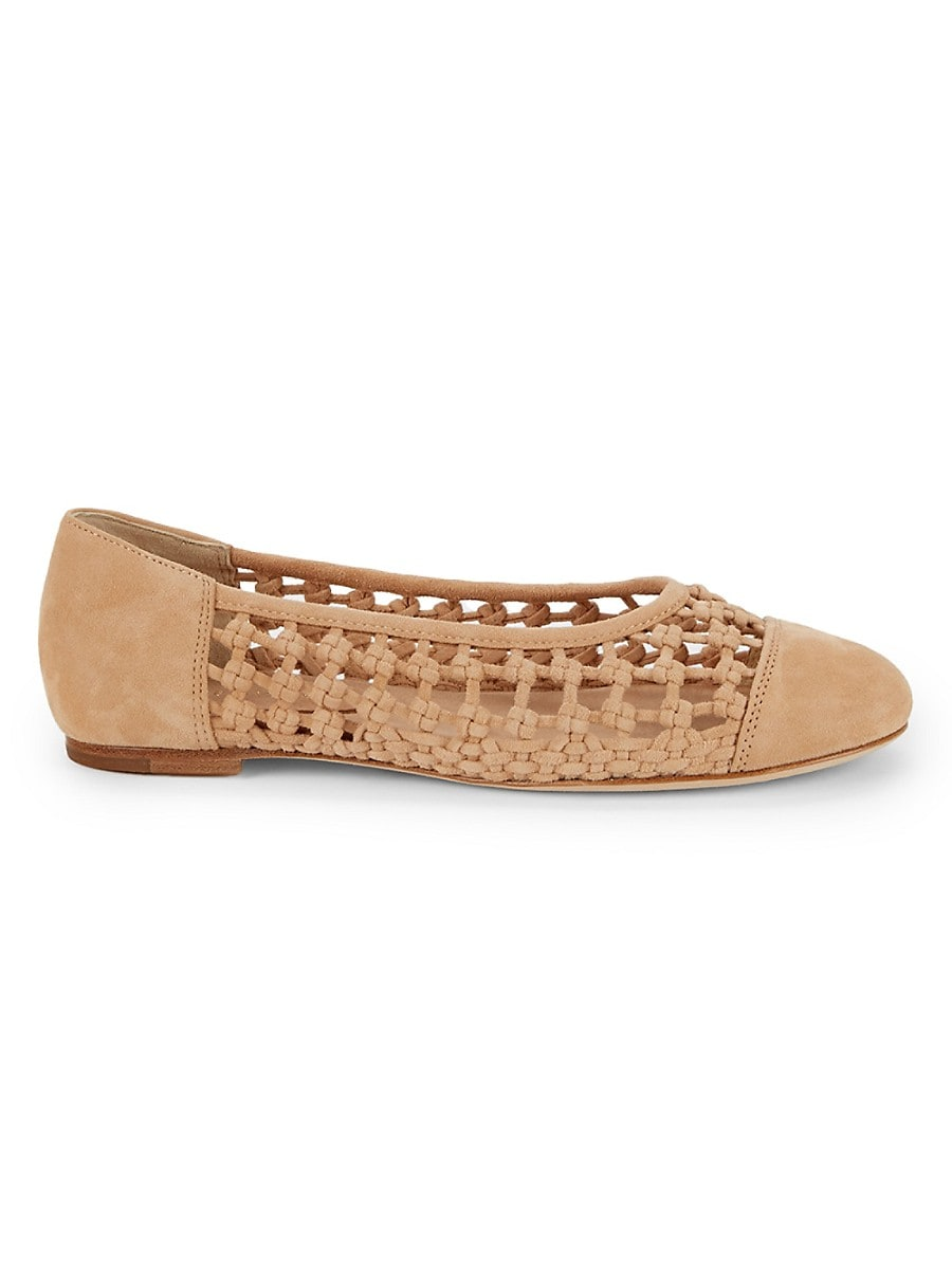 Women's Eden Knotted Suede Flats