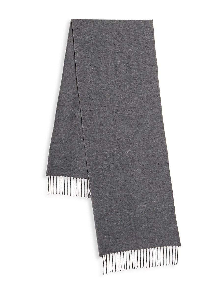 Men's Fringed Virgin Wool-Blend Scarf