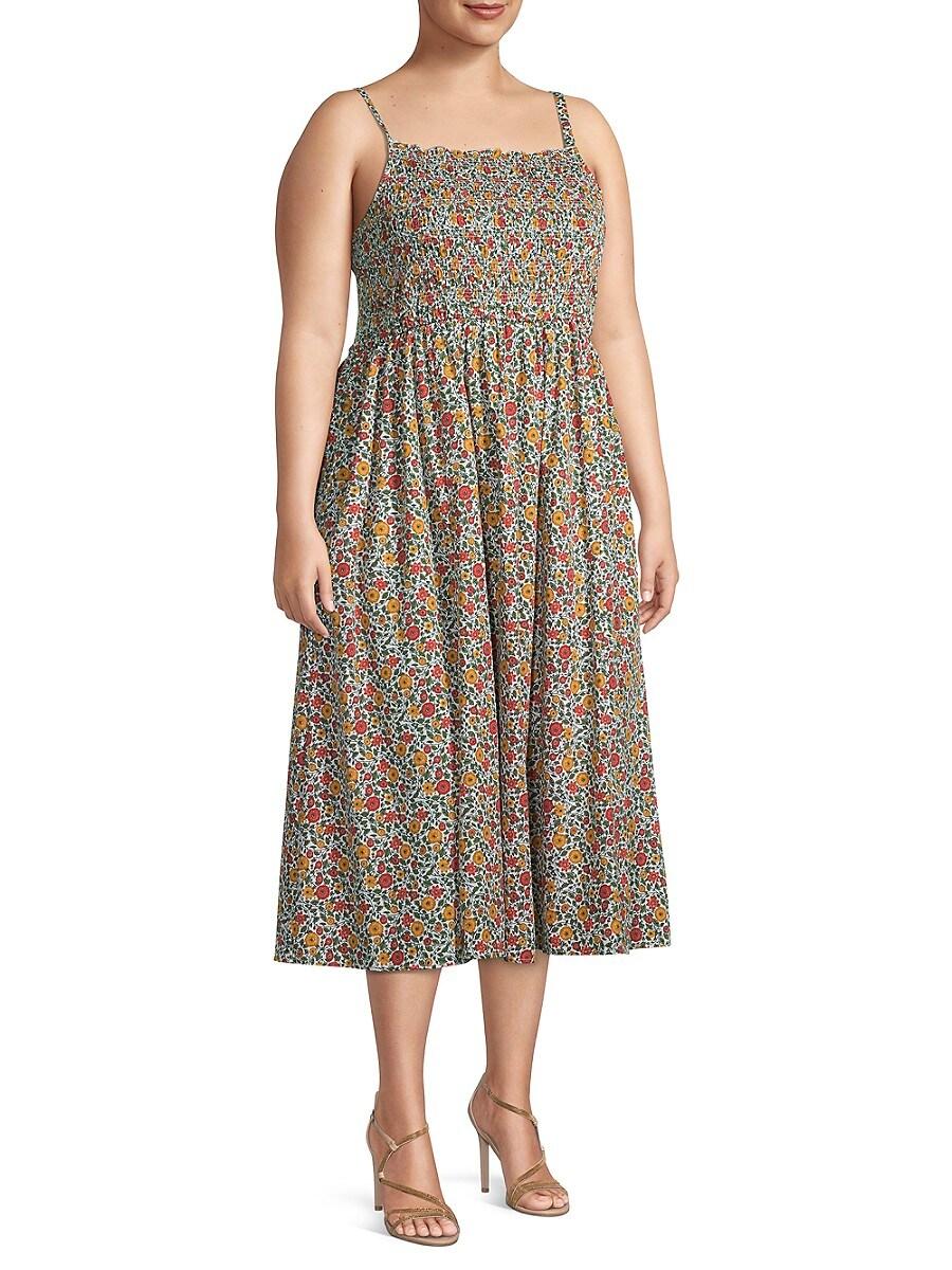 Women's Plus Romantic Poplin Dress