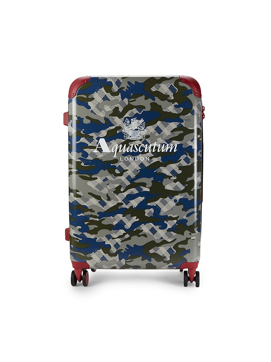 24-Inch Camo-Print Spinner Suitcase