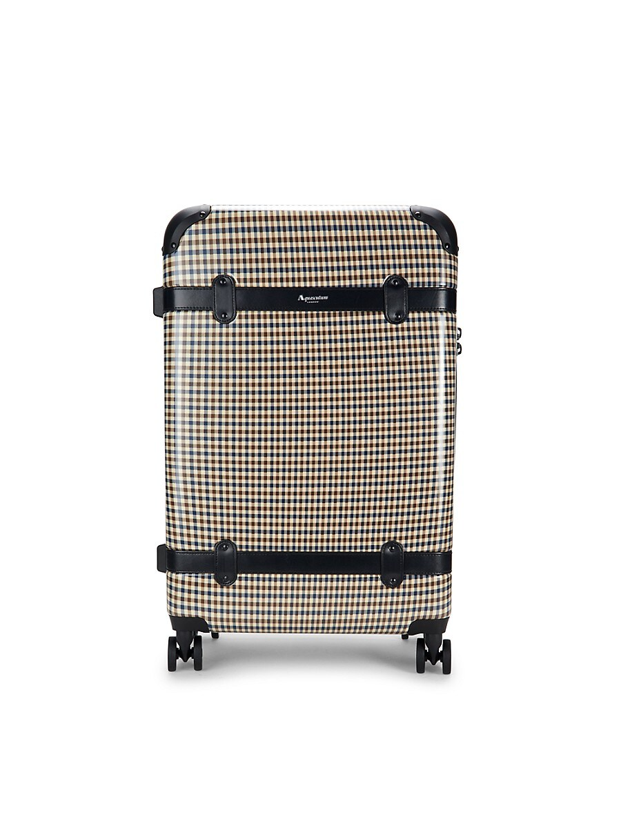 24-Inch Check Spinner Suitcase