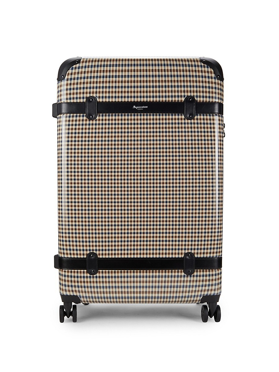 28-Inch Check Spinner Suitcase