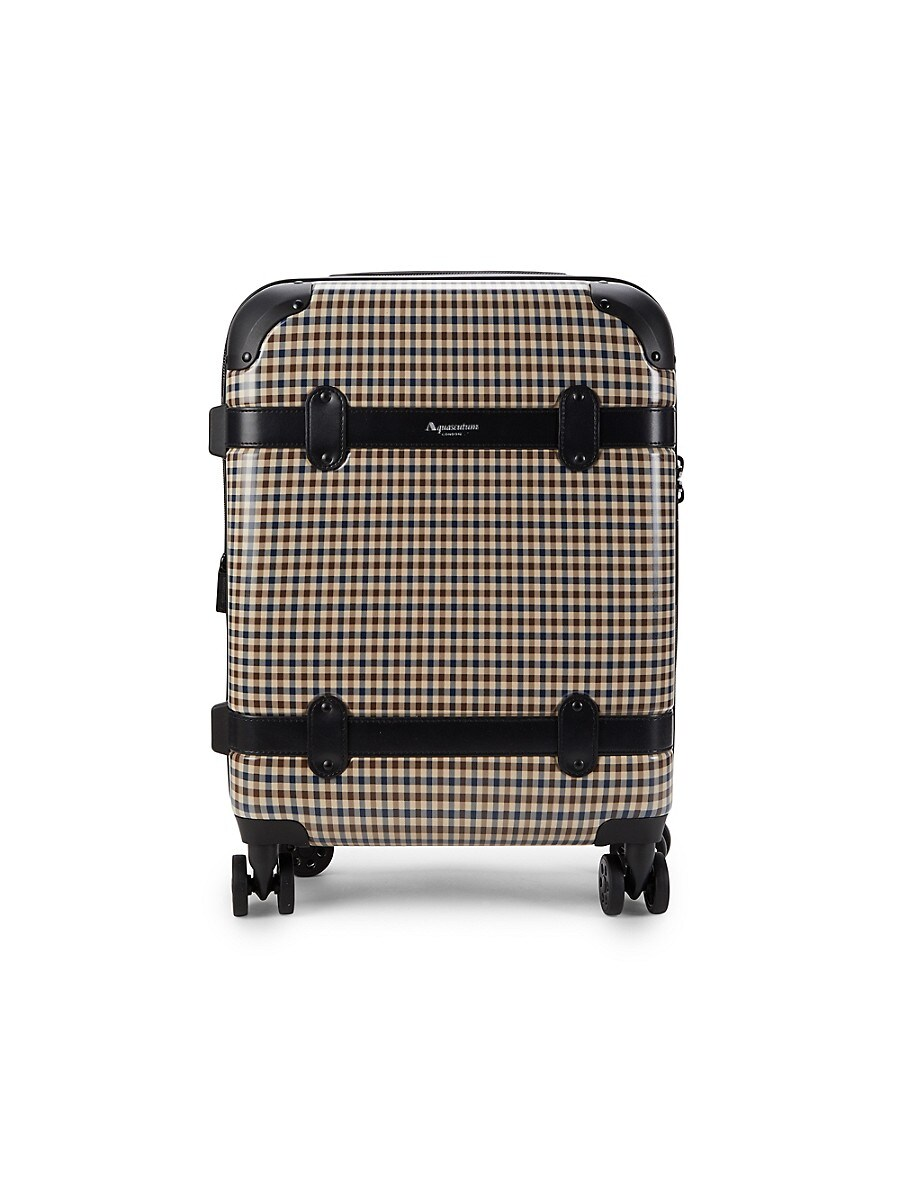 20-Inch Check Spinner Suitcase