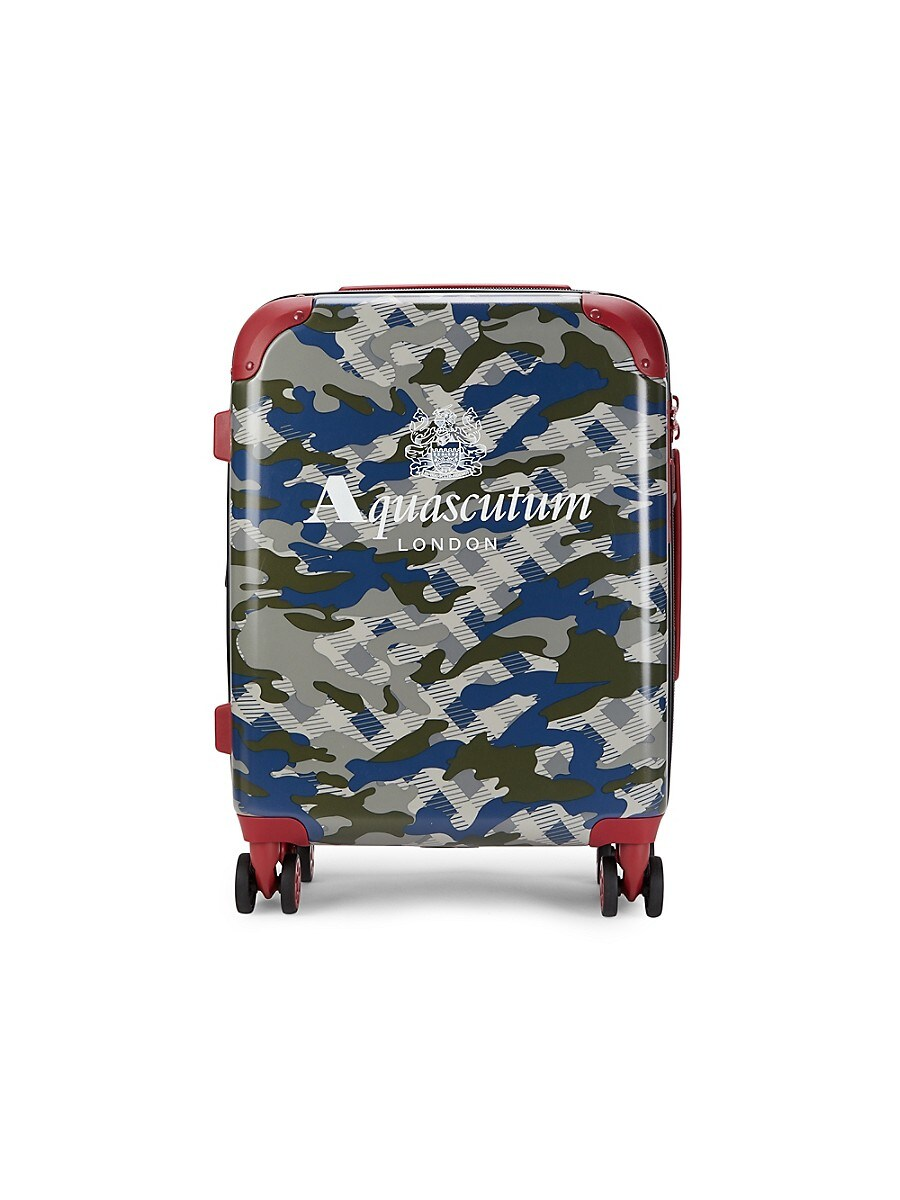 20-Inch Camo-Print Spinner Suitcase