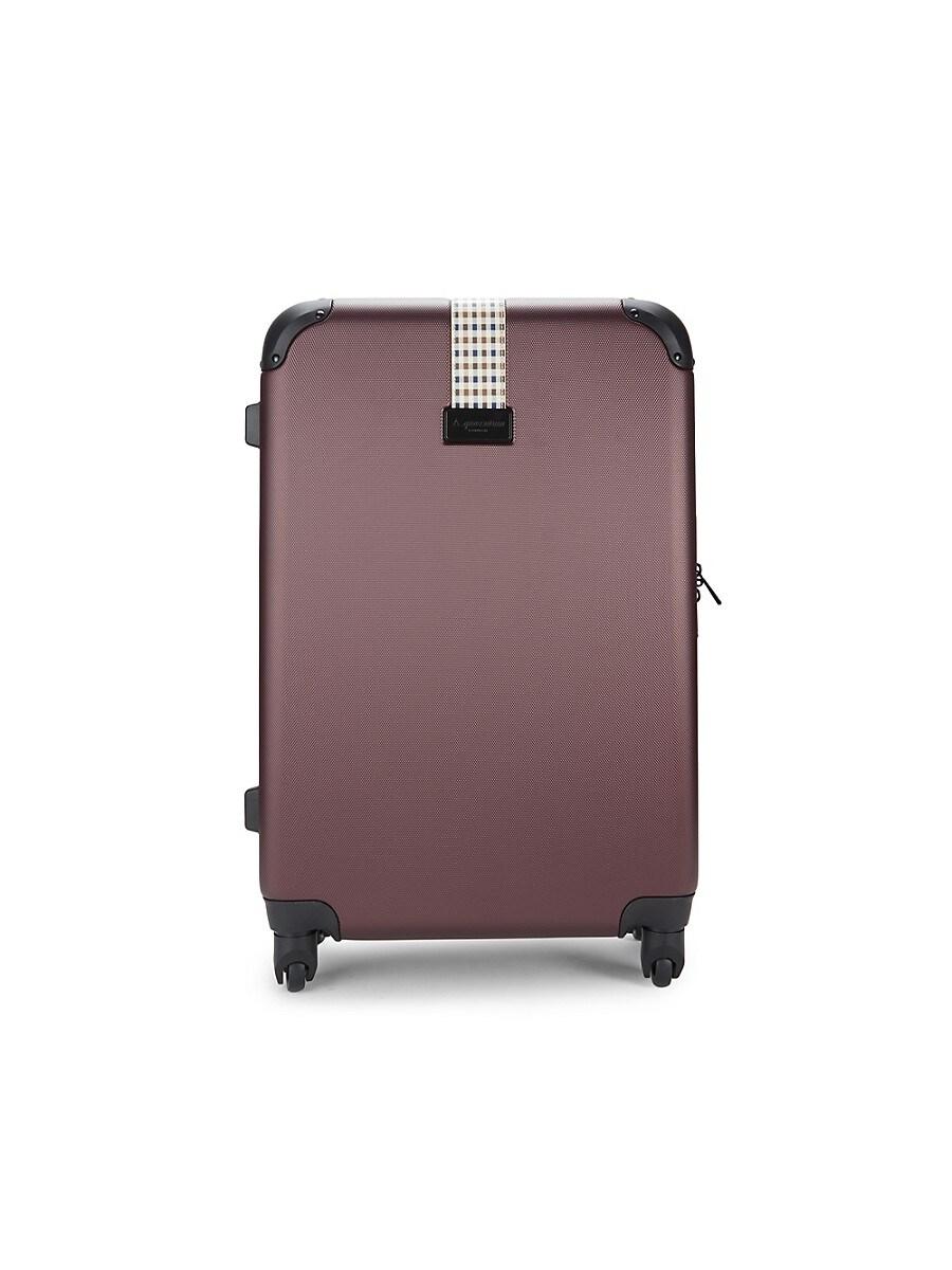 Aquascutum 24-Inch Spinner Suitcase - Burgundy