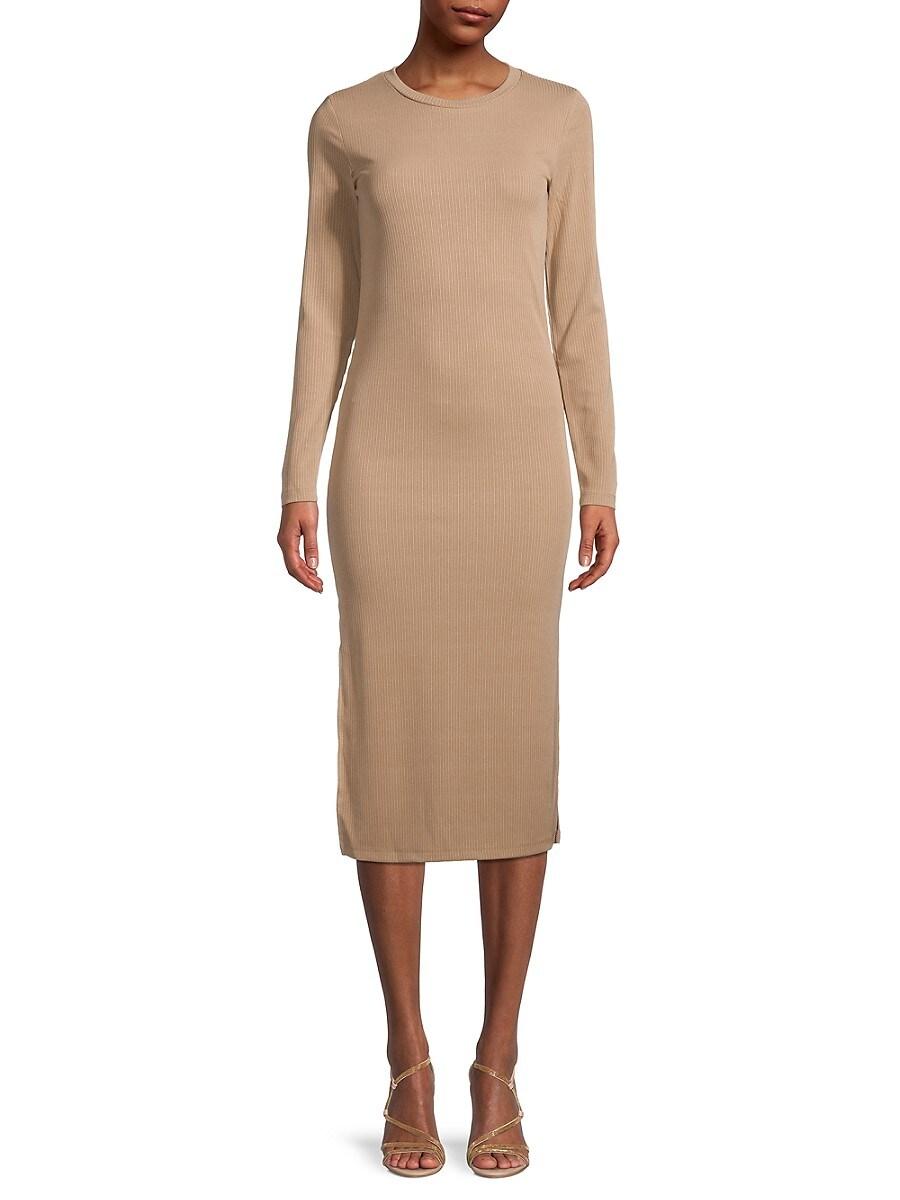 Women's Rib-Knit T-Shirt Dress
