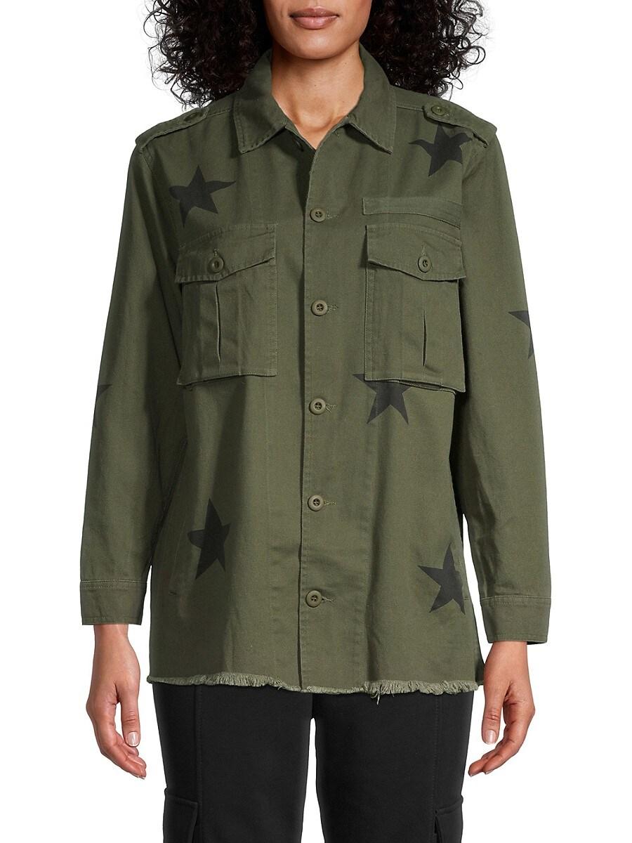Women's Star Print Cotton Jacket