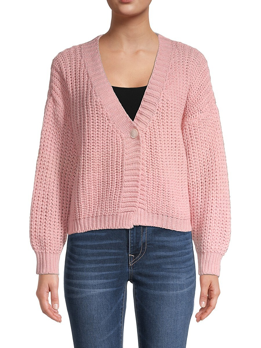 Women's Cropped Dropped Shoulder Cardigan
