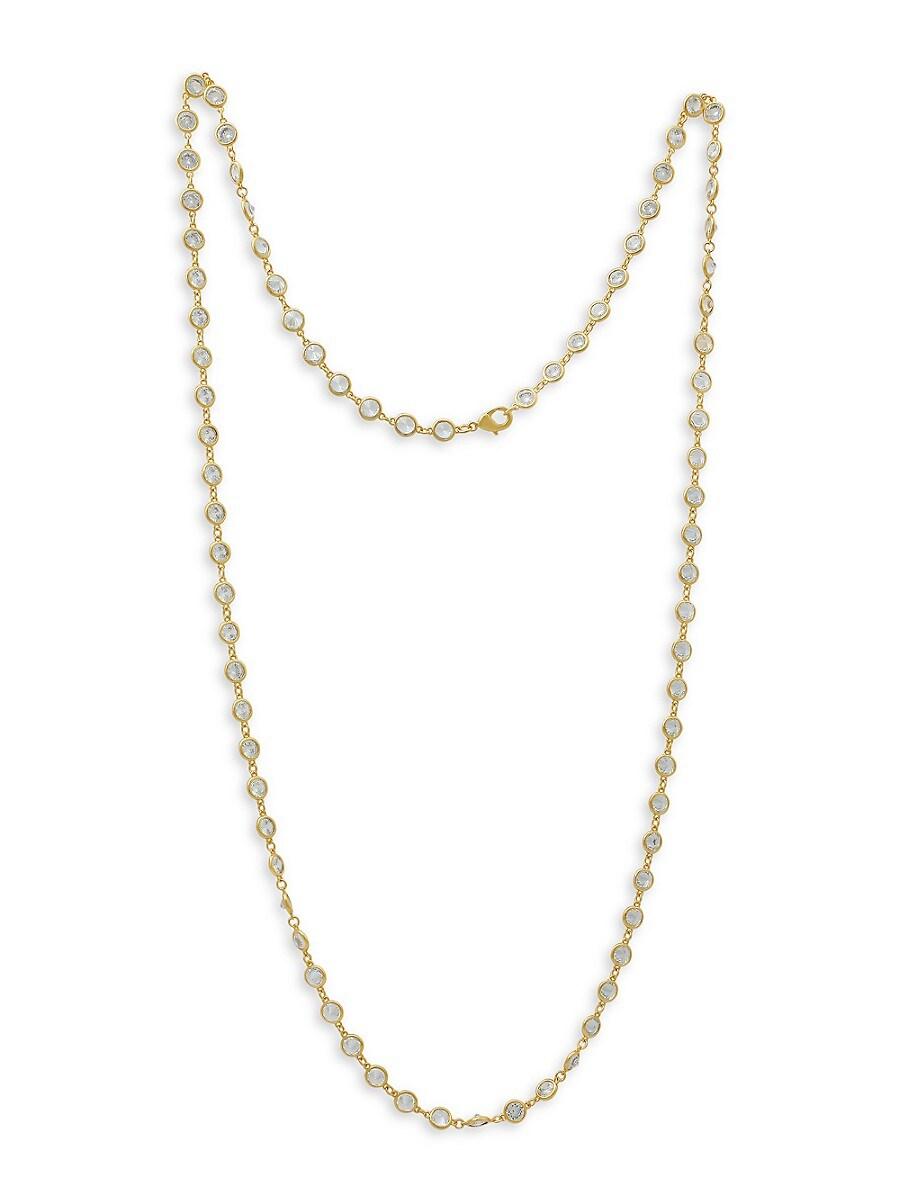 Women's 14K Goldplated & Cubic Zirconia Necklace