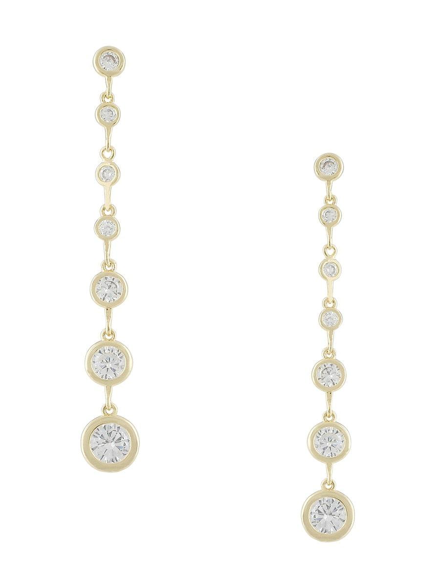 Women's 14K Goldplated & Cubic Zirconia Dangle Earrings