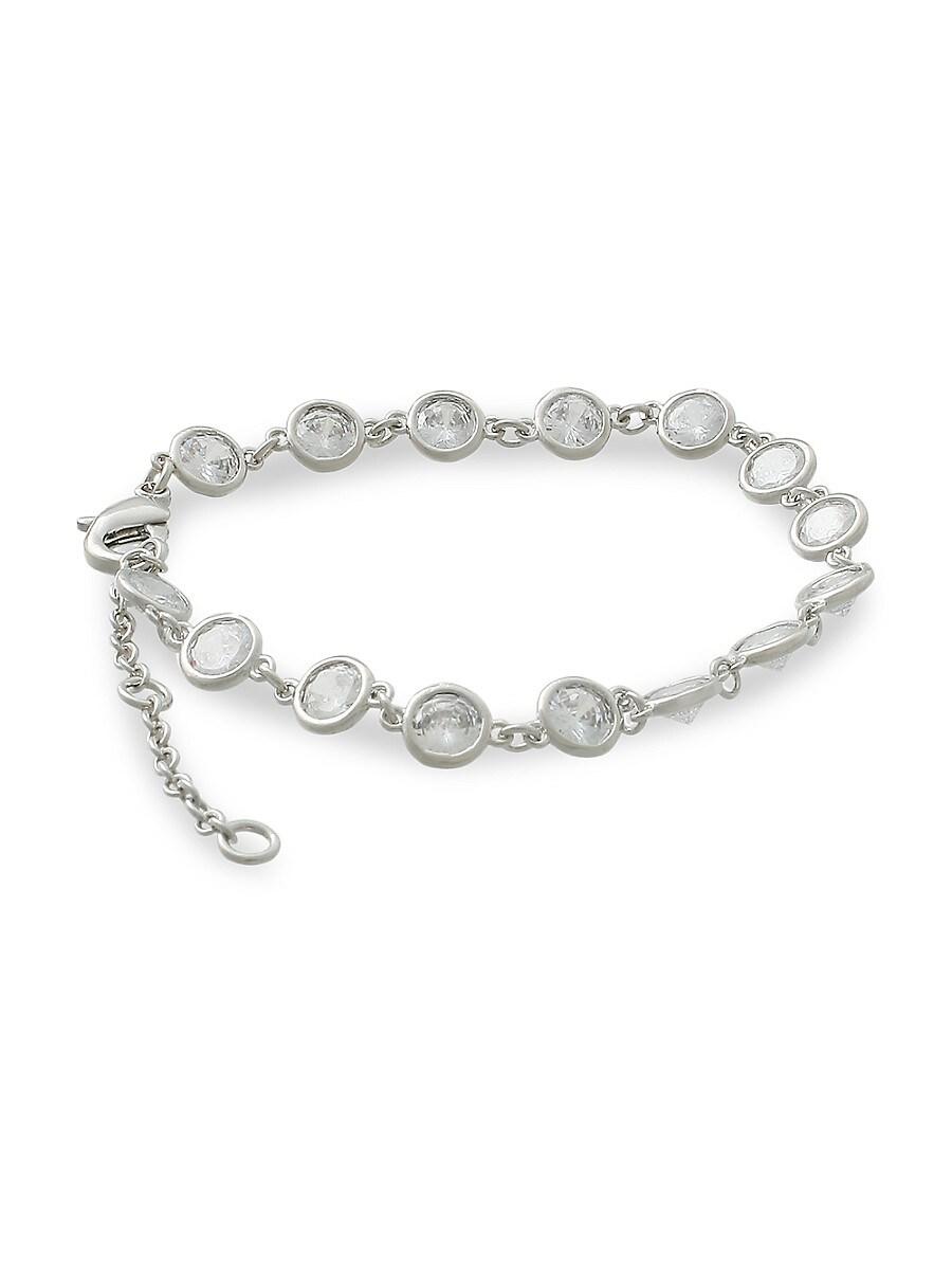 Women's Rhodium-Plated & Cubic Zirconia Bracelet
