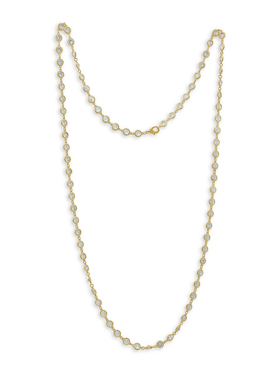 Women's 14K Goldplated & Cubic Zirconia Strand Necklace