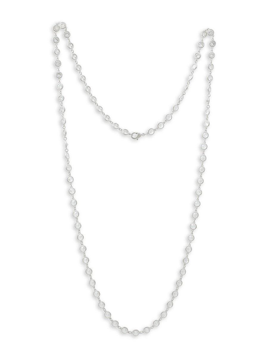 Women's Rhodium-Plated & Cubic Zirconia Necklace