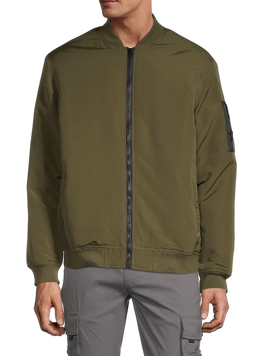 Men's Zip-Up Puffer Bomber Jacket