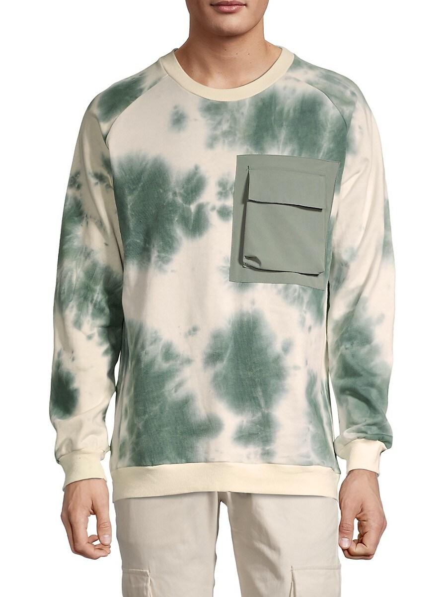 Men's Tie-Dye Pocket Sweatshirt