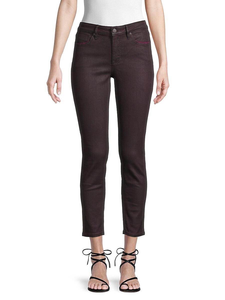 Women's Jackie Burgu Coated Jeans