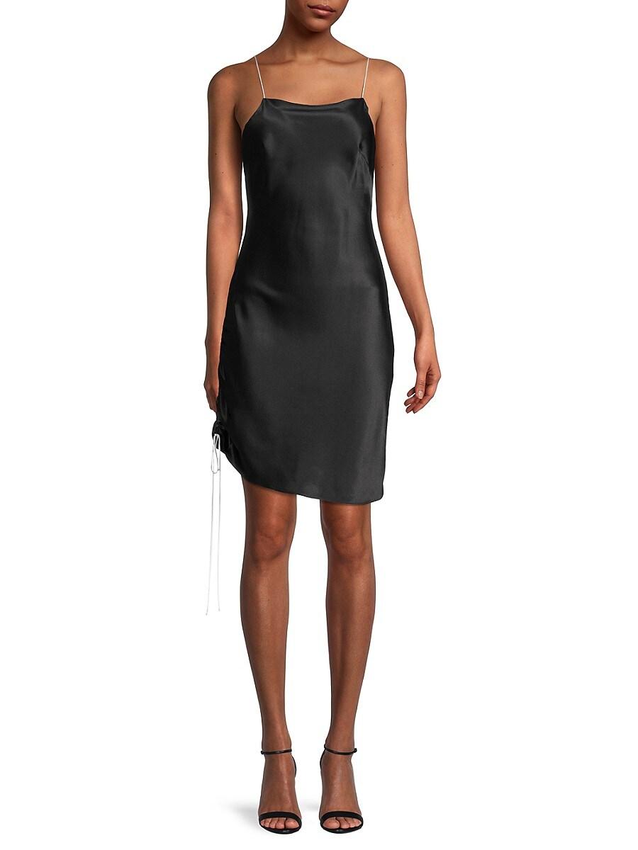 Women's Silk Ruched Slip Dress