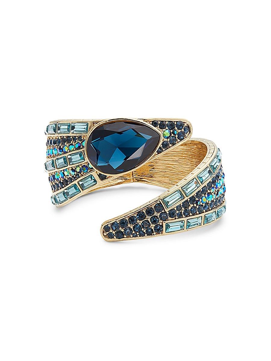 Women's Brass Ox Plated Beaded Crystal Bracelet