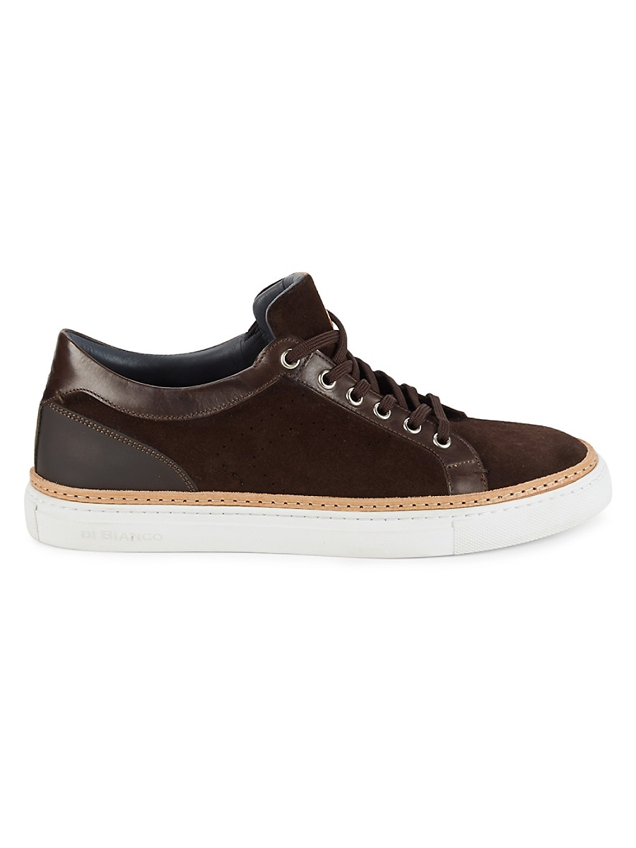 Men's Velour Suede & Leather Sneakers