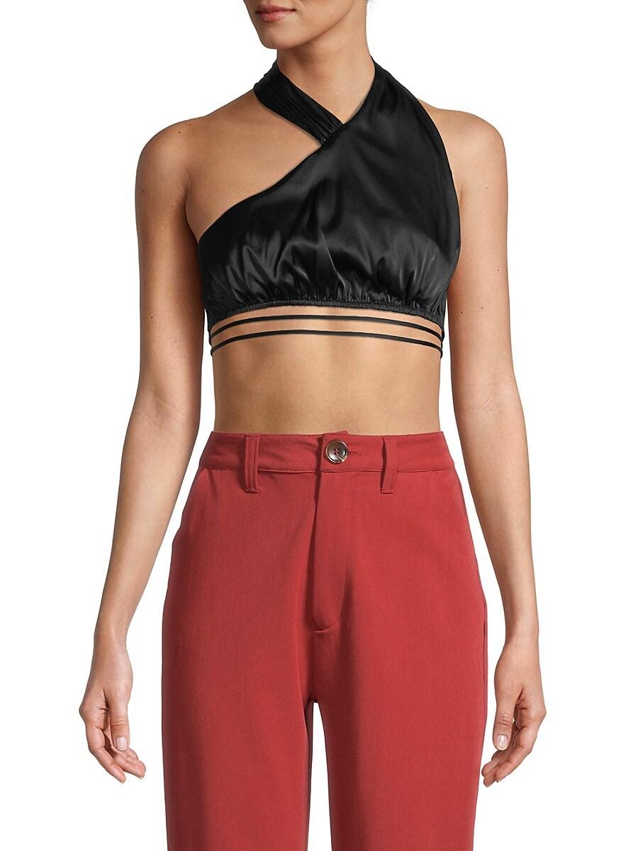 Women's One-Shoulder Crop Top