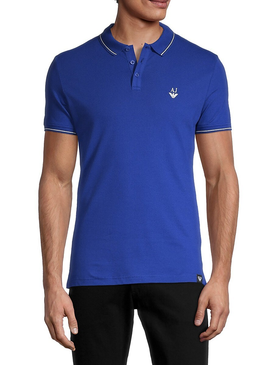 Men's Tipped Slim-Fit Stretch Polo