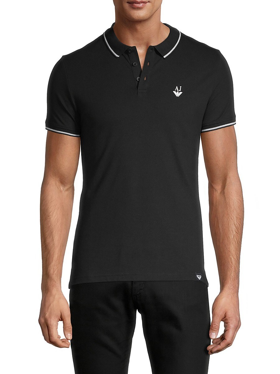 Men's Tipped Stretch Polo