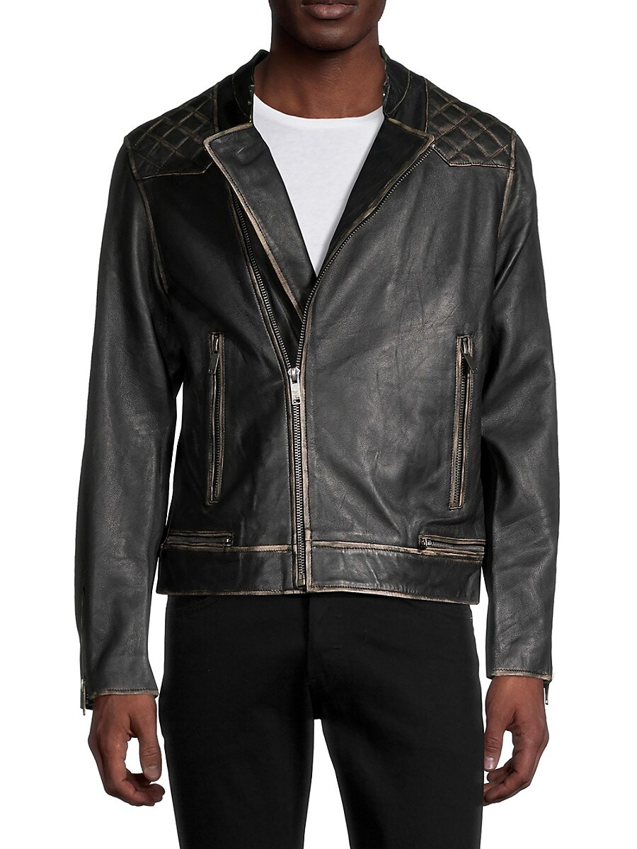 Men's Harris Leather Biker Jacket