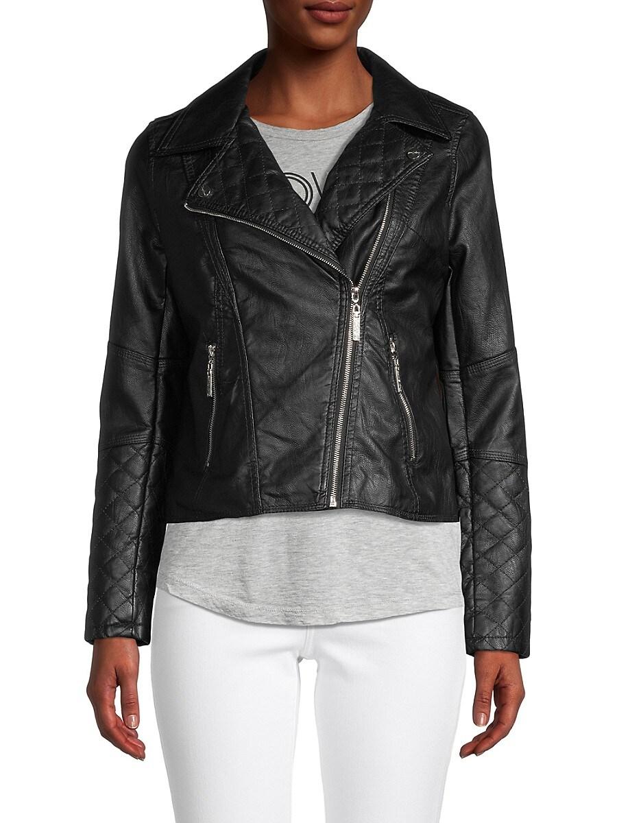 Women's Vegan Leather Moto Jacket