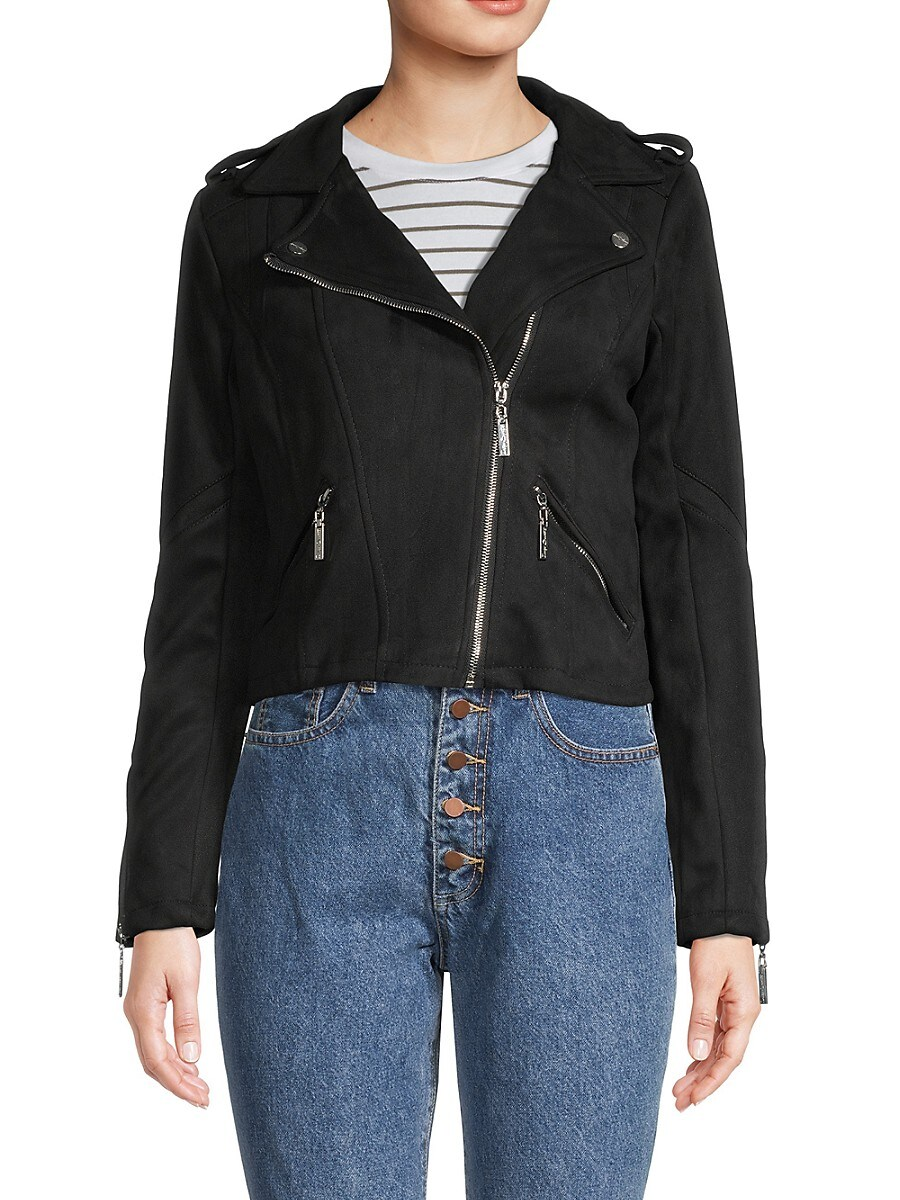 Women's Cropped Moto Jacket