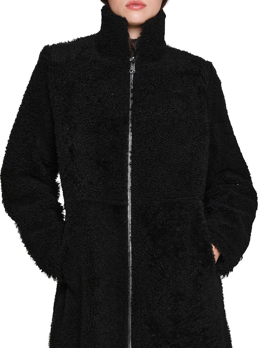 Women's Shearling & Leather Reversible Jacket