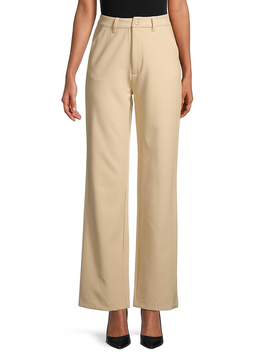 Women's High-Waisted Classic Trousers