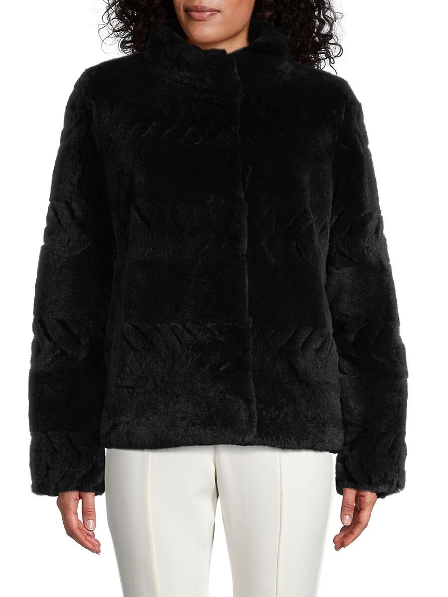 Women's Embossed Rex Rabbit Fur Jacket