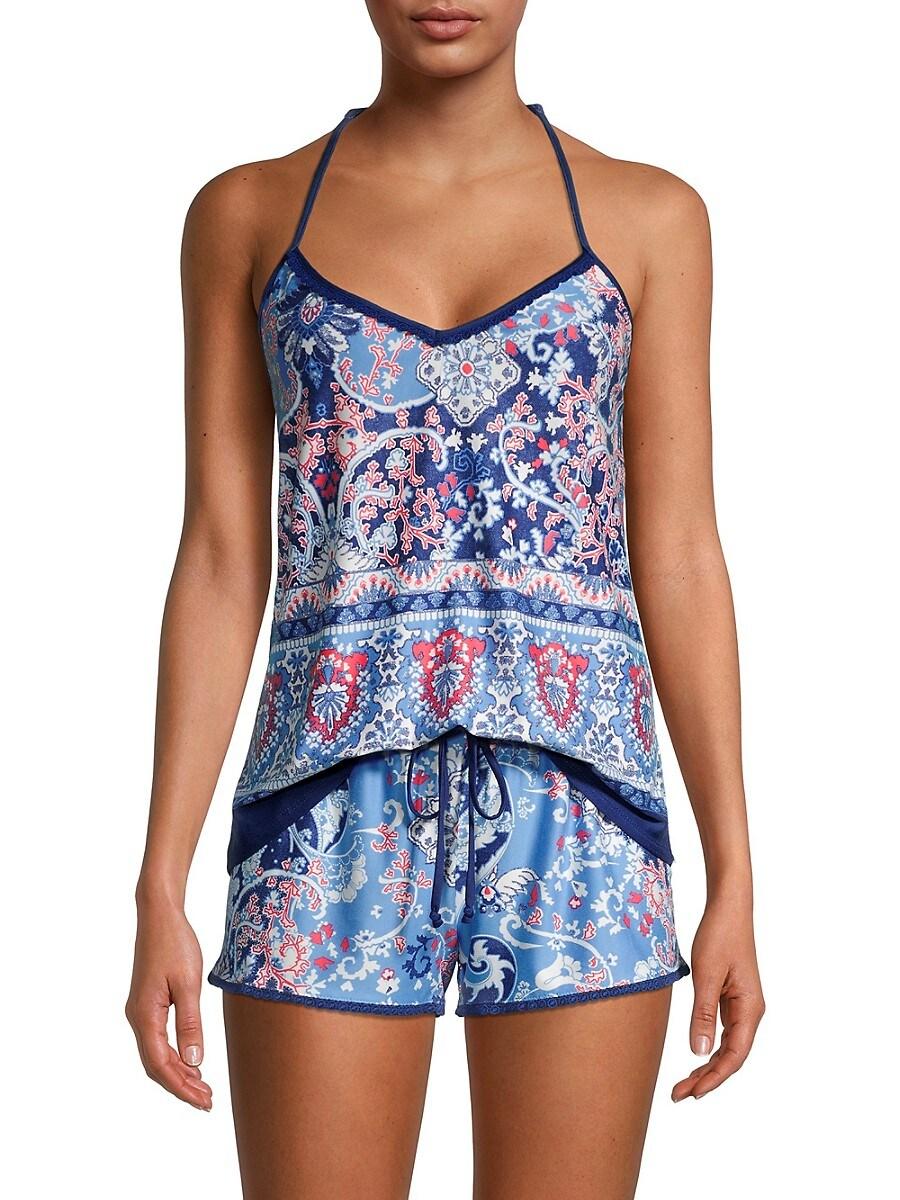 Women's 2-Piece Print Cami Top & Shorts Set