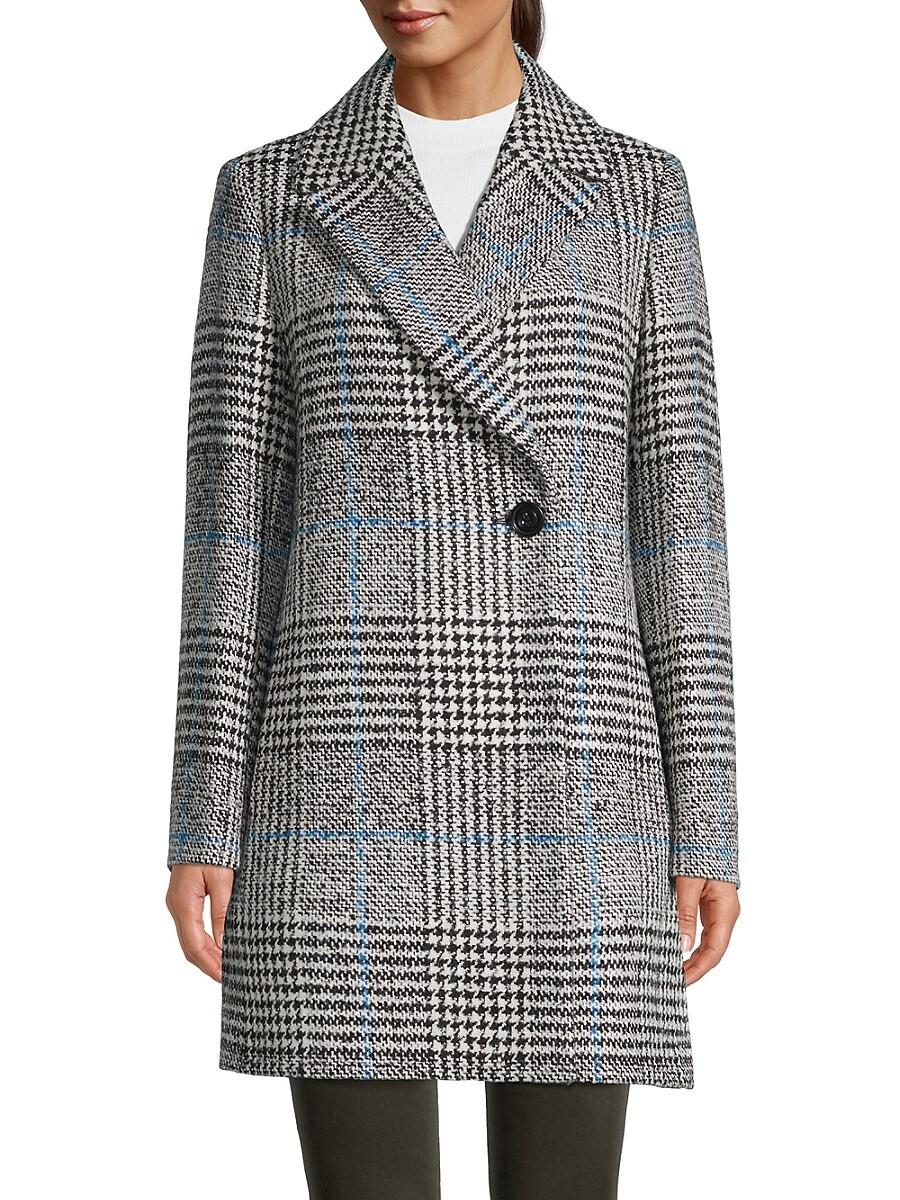 Women's Plaid Topcoat