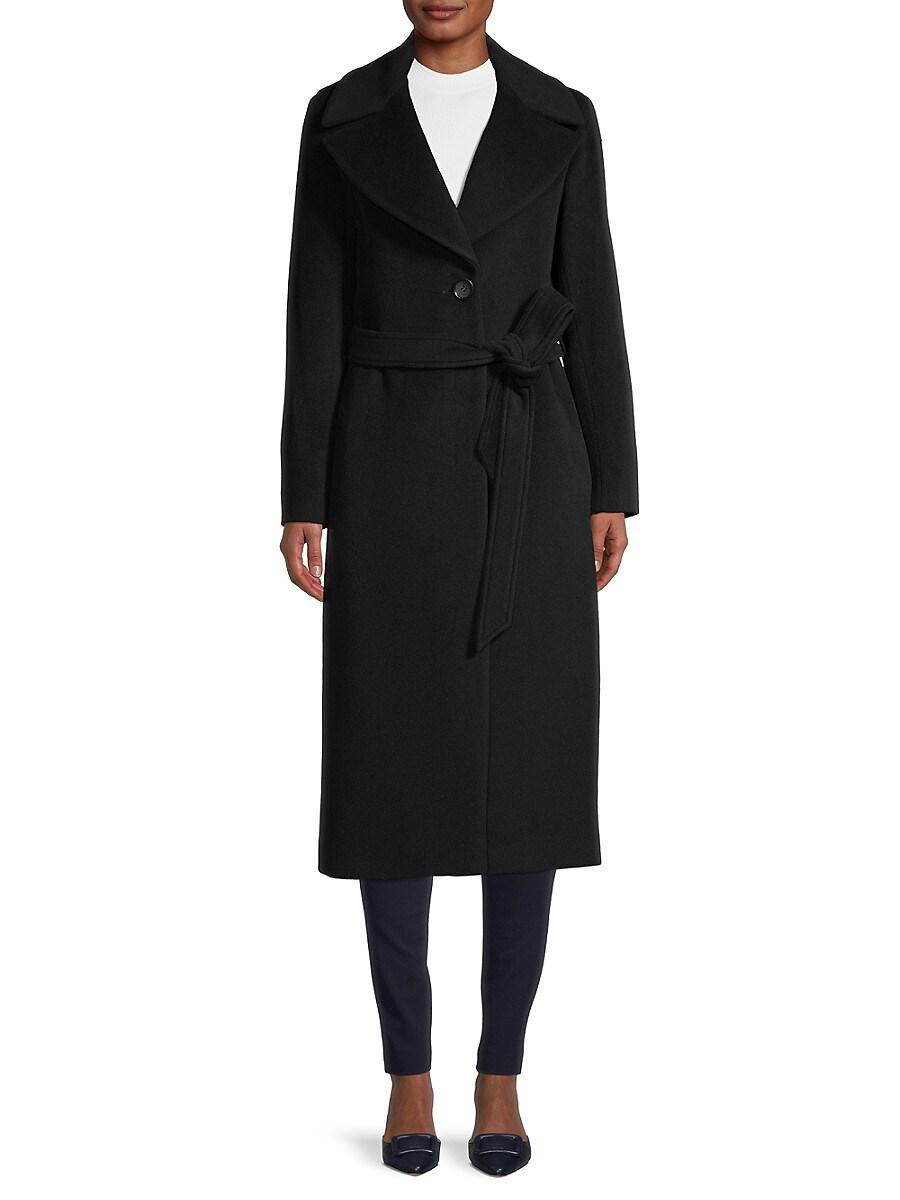 Women's Belted Wool-Blend Coat