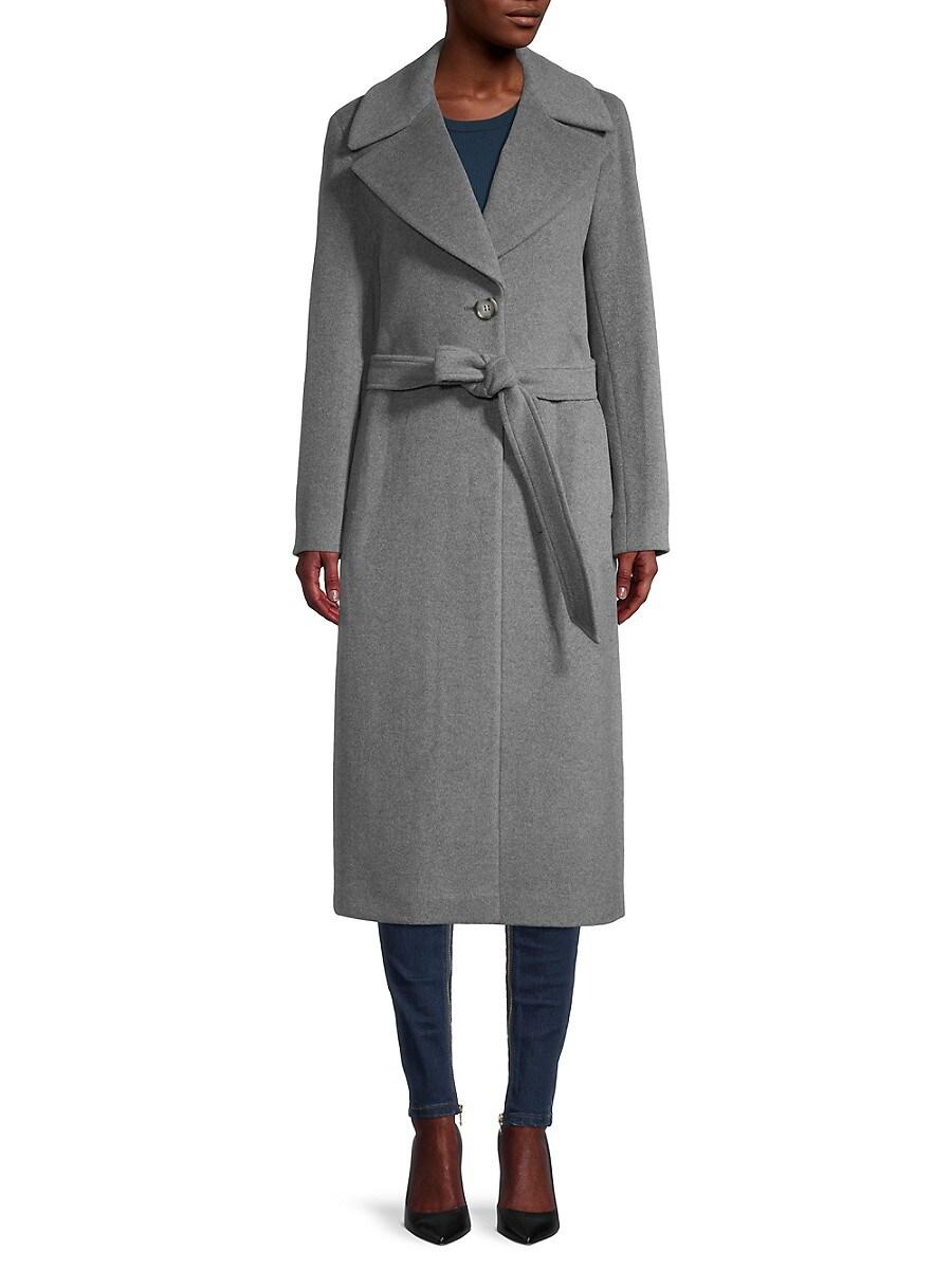 Women's Belted Notch Coat