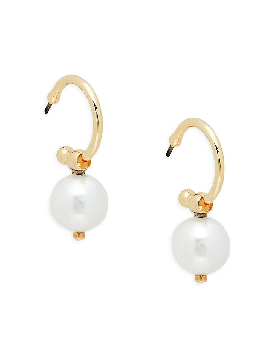 Women's Gayl Goldplated & 10MM Freshwater Pearl Drop Earrings